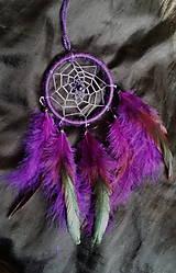 Dekorácie - Lapač snov fialový - 7906016_