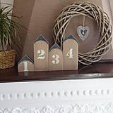 Dekorácie - Domčeky s číslami - 7904418_