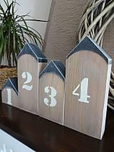 Dekorácie - Domčeky s číslami - 7904419_