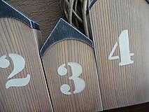 Dekorácie - Domčeky s číslami - 7904420_