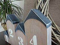 Dekorácie - Domčeky s číslami - 7904421_
