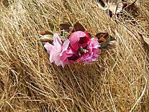 """Ozdoby do vlasov - Kvetinový hrebienok """" Malinové súznenie """" - 7905691_"""