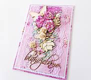 Papiernictvo - pohľadnica s kvetmi - 7904632_