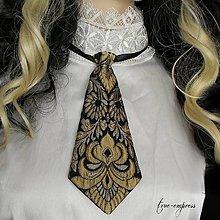 Doplnky - Brokátová dámska kravata - 7908125_
