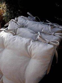 Úžitkový textil - PODSEDÁKY lněné jednobarevné - 7904767_