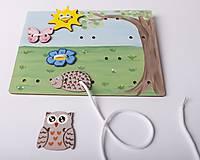 Hračky - Prišívacia hračka - Tabuľka na lúke - 7905048_