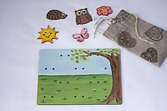 Hračky - Prišívacia hračka - Tabuľka na lúke - 7905051_