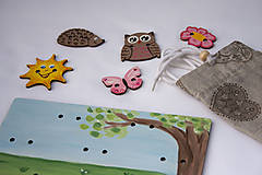 Hračky - Prišívacia hračka - Tabuľka na lúke - 7905052_