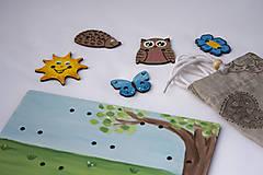Hračky - Prišívacia hračka - Tabuľka na lúke - 7905053_