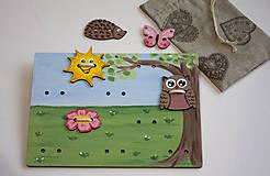 Hračky - Prišívacia hračka - Tabuľka na lúke - 7905056_