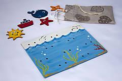 Detské doplnky - Prišívacia hračka - Tabuľka morský svet - 7905066_
