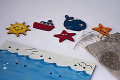 Detské doplnky - Prišívacia hračka - Tabuľka morský svet - 7905067_