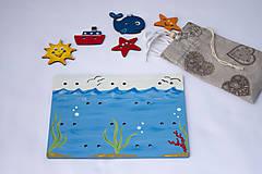 Detské doplnky - Prišívacia hračka - Tabuľka morský svet - 7905068_