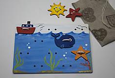 Detské doplnky - Prišívacia hračka - Tabuľka morský svet - 7905070_