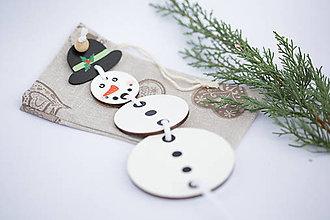 Hračky - Hračka snehuliak - na precvičenie veľkostí - 7904994_