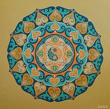Obrazy - Mandala Slnko a More, Oheň a Voda, Jin a Jang - 7906948_
