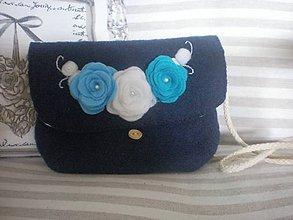 Detské tašky - Detská kabelka s ružami - 7905673_
