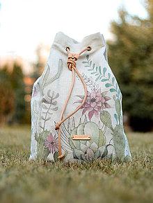 Batohy - Ručne maľovaný batoh \