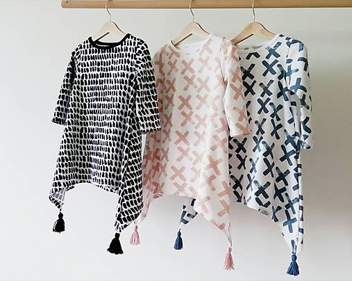 Detské oblečenie - BIO Dlhé šaty so strapčekmi - 7904154_