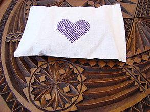 Úžitkový textil - Levanduľové bylinkové vrecúško - 7906627_