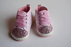 Topánočky - Capačky vykladané krýštalmi Rose - 7907275_