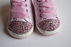 Topánočky - Capačky vykladané krýštalmi Rose - 7907276_