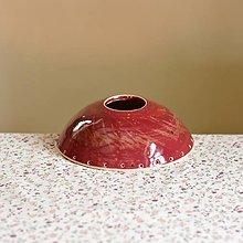 Dekorácie - Kameninový vrchlík na světlo 18 cm - v kraji vína - 7907455_