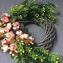 Dekorácie - Romantický veniec 40 x 60 cm - 7906532_