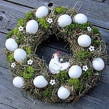 Dekorácie - Věnec velikonoční - Kohoutek v zeleni - 7907909_