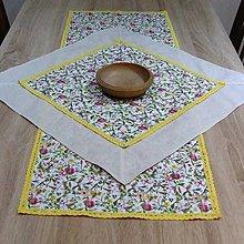 Úžitkový textil - Farebné jarné kvietky - obrus štvorec 61x61 - 7907147_