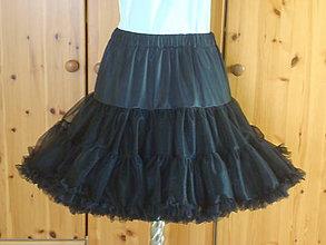 Sukne - Sukňa čierna dámska Puf-Puf - 7905513_