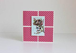 Papiernictvo - Veľkonočná pohľadnica fuchsia - 7904856_