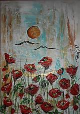 Obrazy - Červené sukničky - 7904233_