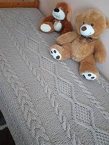 Úžitkový textil - Pletená deka - 7907094_