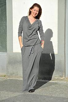 Šaty - Svetrové Boho šaty - 7904762_