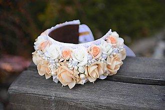 Ozdoby do vlasov - parta na čepčenie by michele flowers - 7908894_
