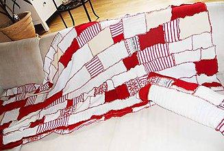 Úžitkový textil - patchwork deka - 7910057_