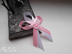 Pierka - svadobné pierka s perličkovým srdiečkom - 7909697_