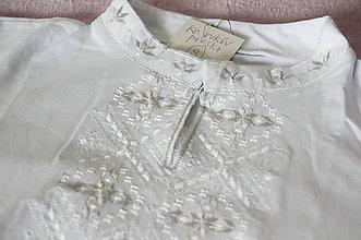 Oblečenie - vyšívané tričko WHITE - 7911149_