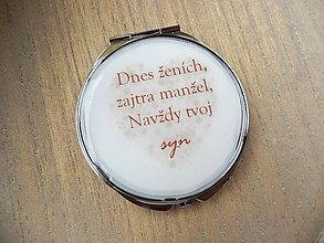 Zrkadielka - Pre svadobnú maminku - 7910364_