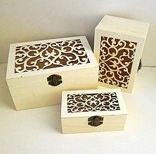 Polotovary - Sada 3 krabičiek vyrezávaných - 7912570_