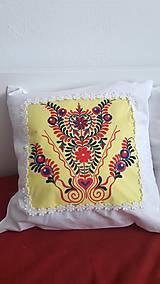 Úžitkový textil - vankúš s ornamentom - 7910956_