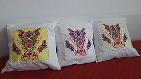 Úžitkový textil - vankúš s ornamentom - 7910957_