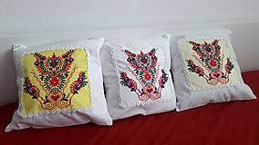 Úžitkový textil - vankúš s ornamentom - 7910958_