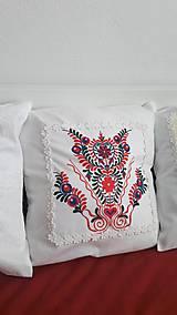 Úžitkový textil - vankúš s ornamentom - 7910959_