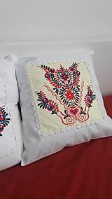 Úžitkový textil - vankúš s ornamentom - 7910960_