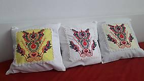 Úžitkový textil - vankúš s ornamentom - 7910961_