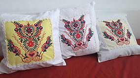 Úžitkový textil - vankúš s ornamentom - 7910962_