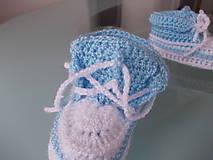 Topánočky - Háčkované tenisky detské))) (10cm - Žltá) - 7910579_