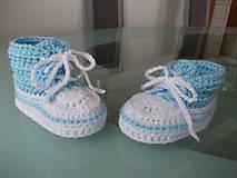 Topánočky - Háčkované tenisky detské))) (10cm - Žltá) - 7910602_